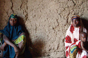 Chief's wives in Bargaja, Niger. The average woman in Niger gives birth to seven children. The country's population is among the fastest growing in the world.